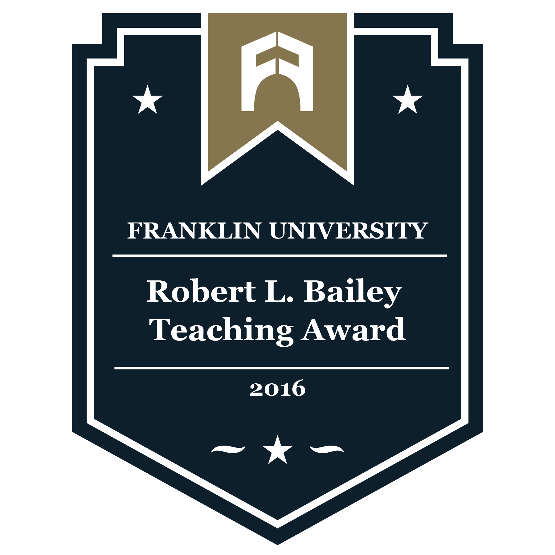 2016 Robert L. Bailey Teaching Award
