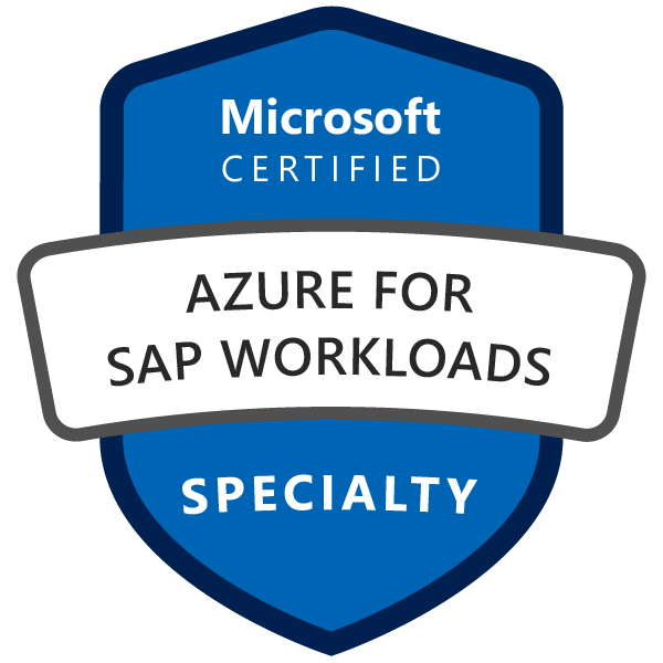 Microsoft Certified: Azure for SAP Workloads Specialty