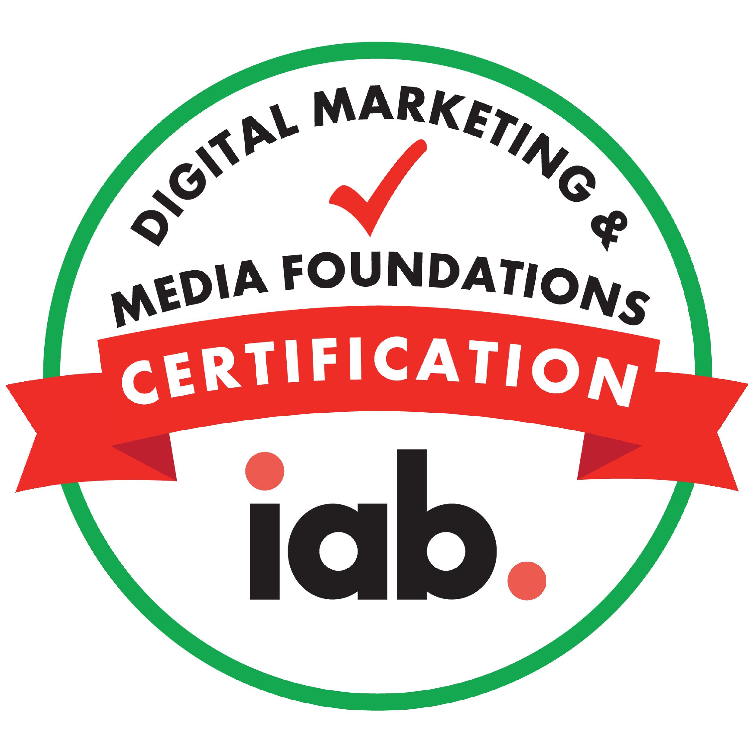 IAB Digital Marketing and Media Foundations Certification