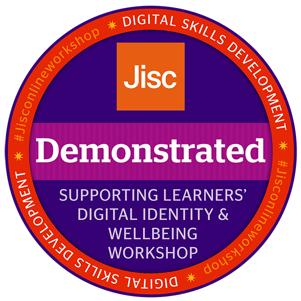 Supporting learners' digital identity and wellbeing