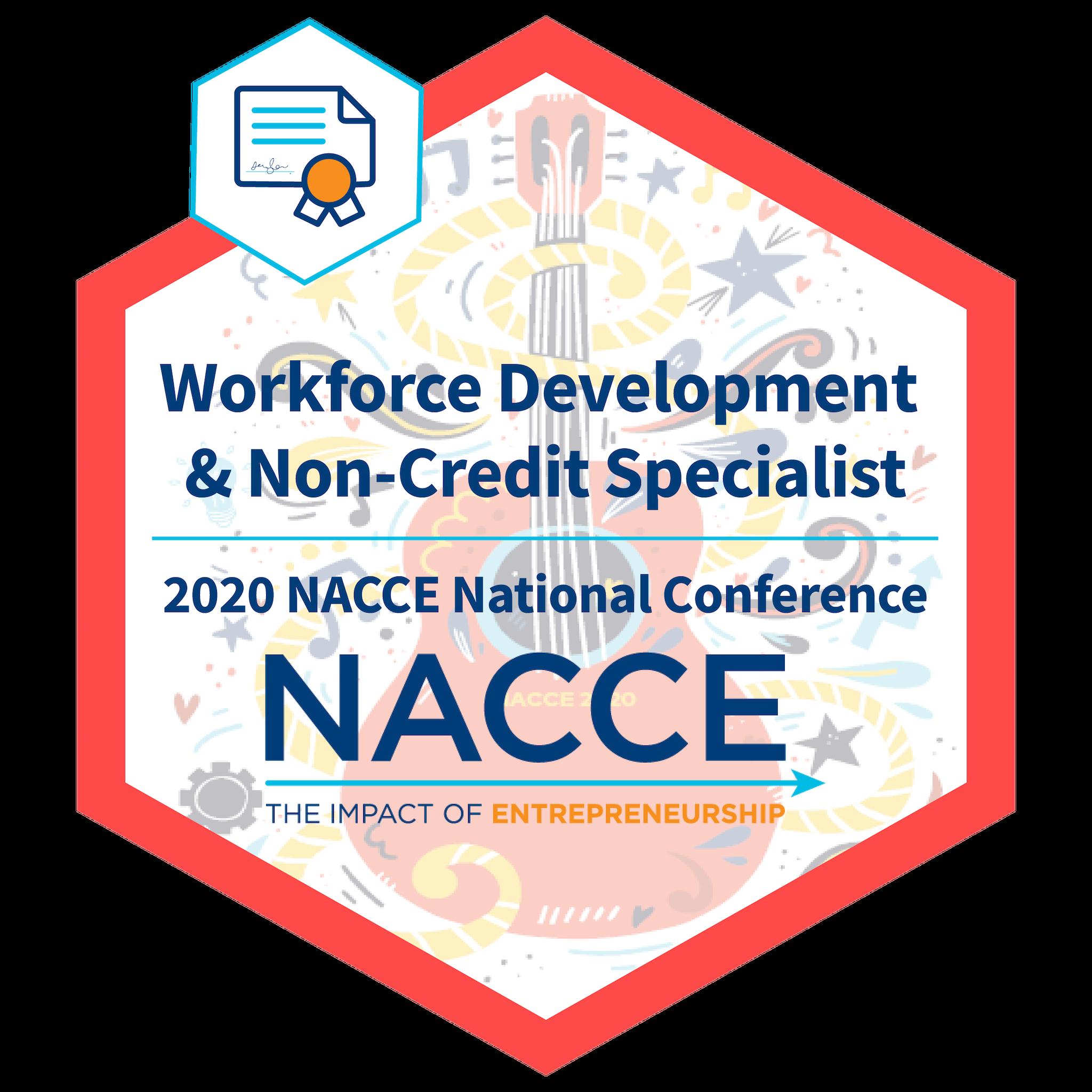 Workforce Development & Non-Credit Specialist