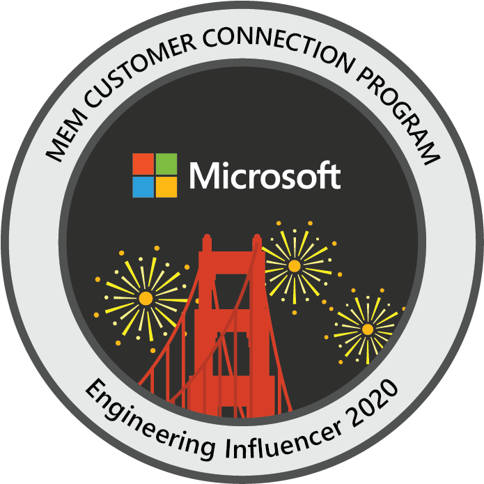 Microsoft Endpoint Manager Customer Connection Program: Engineering Influencer 2020