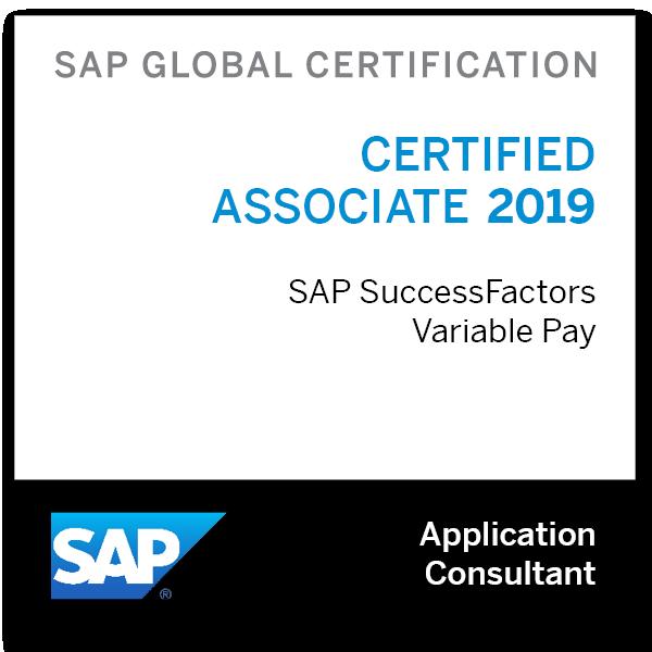 SAP Certified Application Associate - SAP SuccessFactors Variable Pay 2019