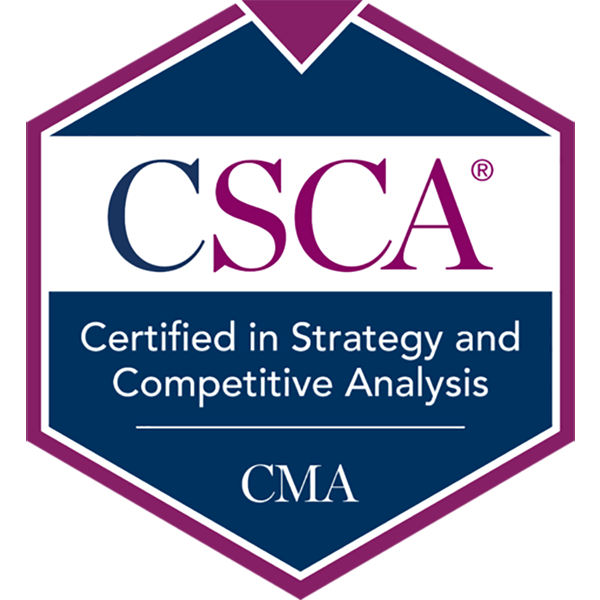 Certified in Strategy and Competitive Analysis