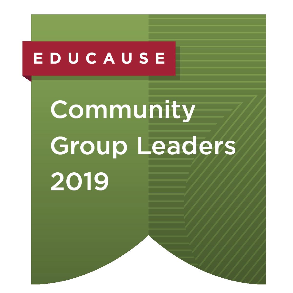 Community Group Leaders 2019