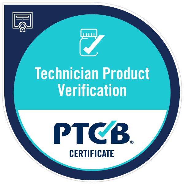 Ptcb Technician Product Verification Certificate Acclaim
