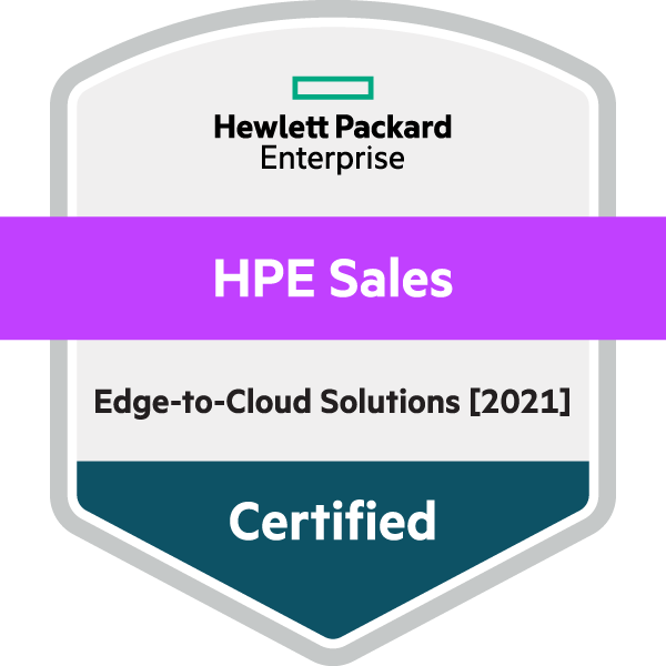 HPE Sales Certified Edge-to-Cloud [2021]