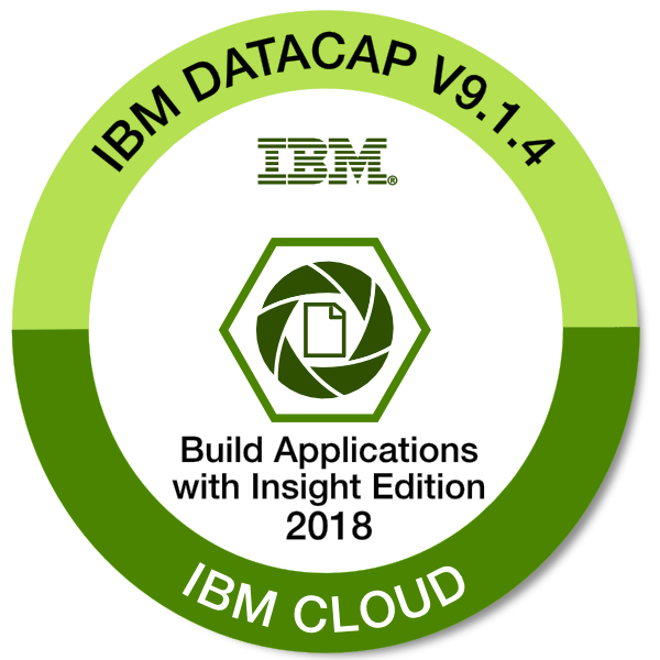 IBM Datacap V9.1.4 - Build Applications with Insight Edition