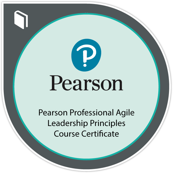 Pearson Professional Badge for Maryland's Agile Leadership Principles Course
