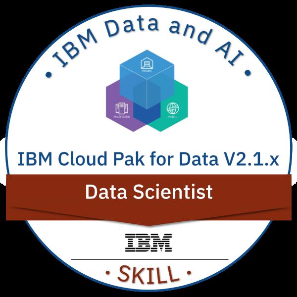 IBM Cloud Pak for Data V2.1.x Data Scientist