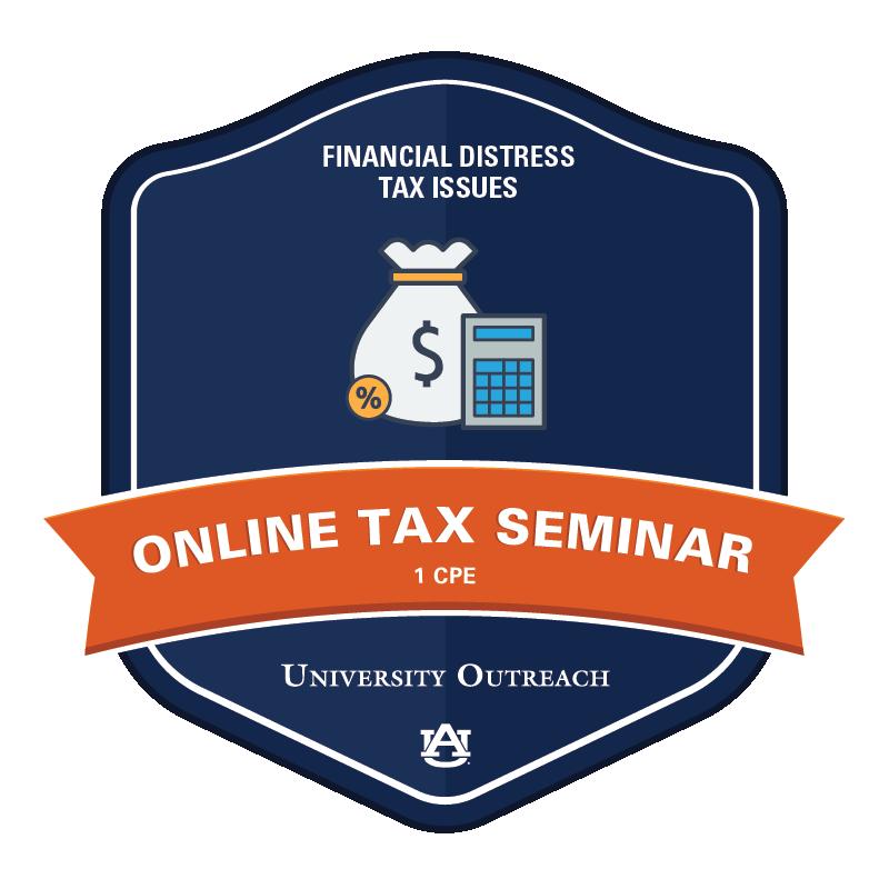 Online Tax Seminar: Financial Distress Tax Issues - 1 CPE