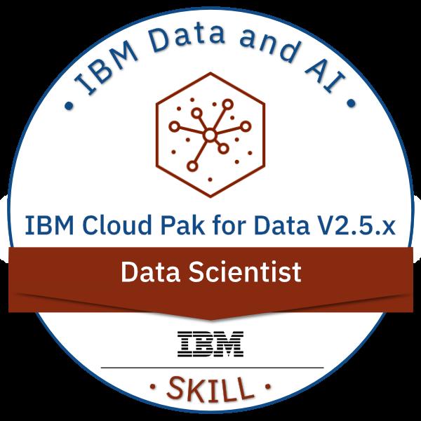 IBM Cloud Pak for Data V2.5.x Data Scientist