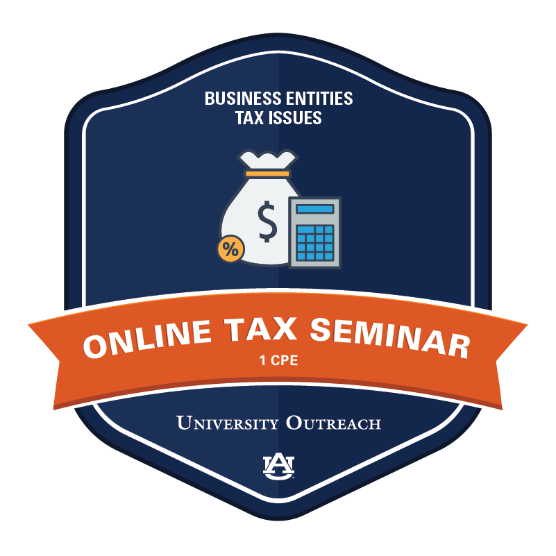 Online Tax Seminar: Business Entities Tax Issues - 1 CPE