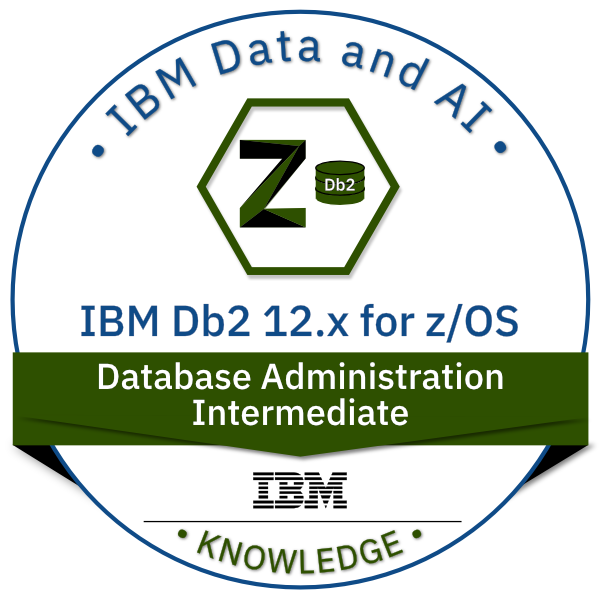 IBM Db2 for z/OS V12.x Database Administration - Intermediate