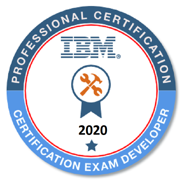 IBM Certification Exam Developer 2020 - Level I