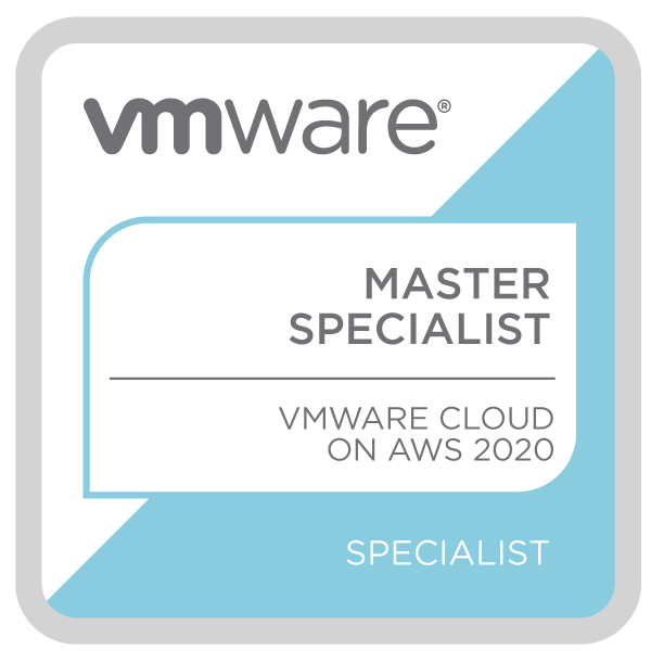 Master Specialist - VMware Cloud on AWS 2020