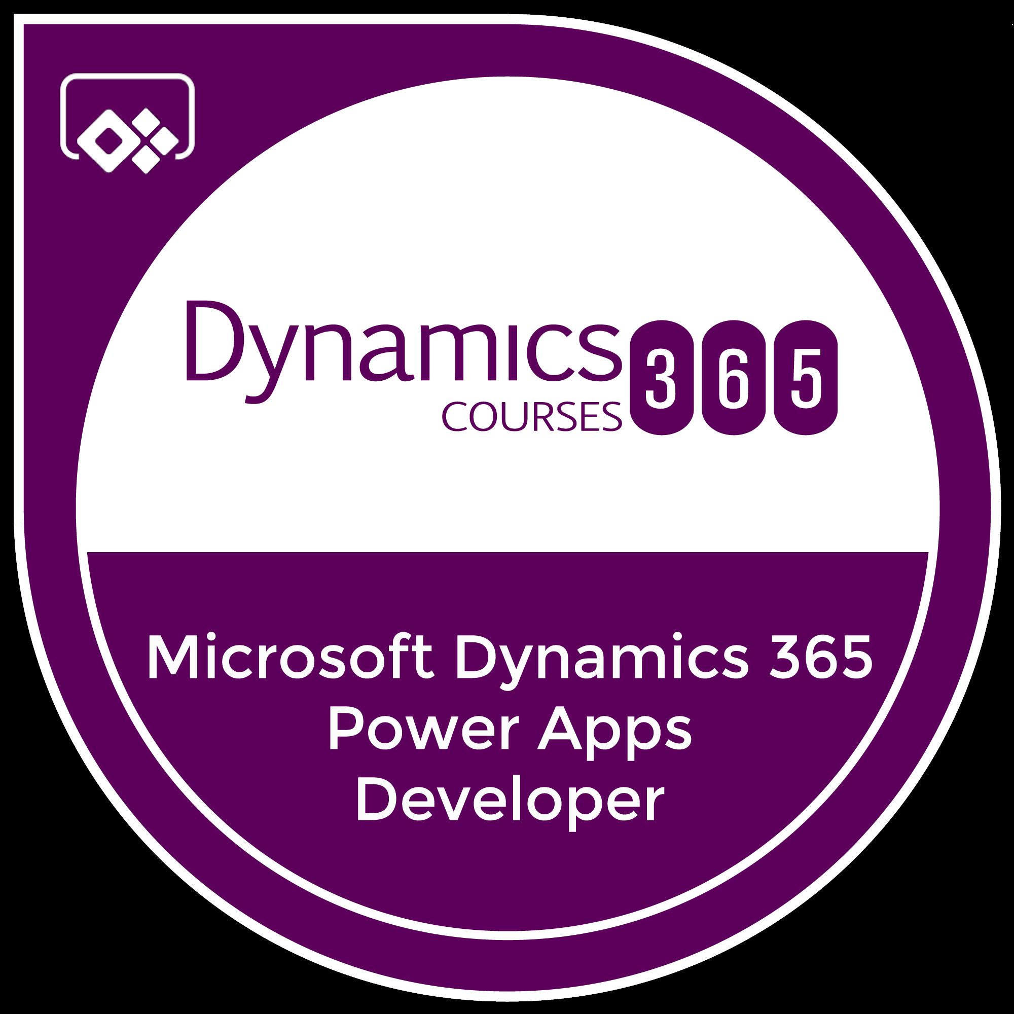 Microsoft Dynamics 365 Power Apps Developer