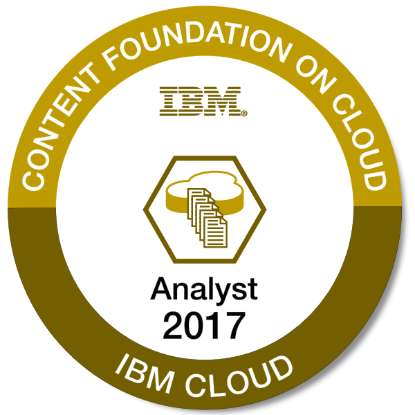 IBM Content Foundation on Cloud - Analyst - 2017