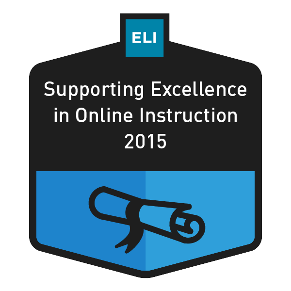 Supporting Excellence in Online Instruction 2015