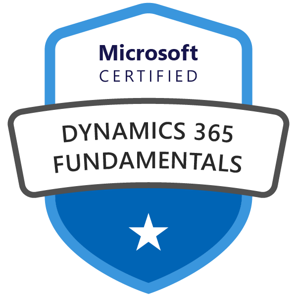 Microsoft Certified: Dynamics 365 Fundamentals (MB-901)