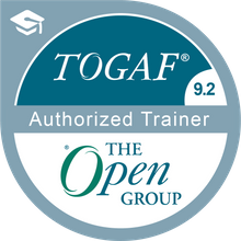 Authorized Trainer TOGAF 9.2 Badge - issued to Doug Rinker by The Open Group