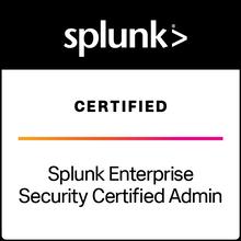 Splunk Enterprise Security Certified Admin