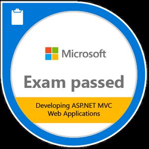 Developing ASP.NET MVC web applications badge