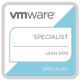 VMware Specialist - vSAN 2019