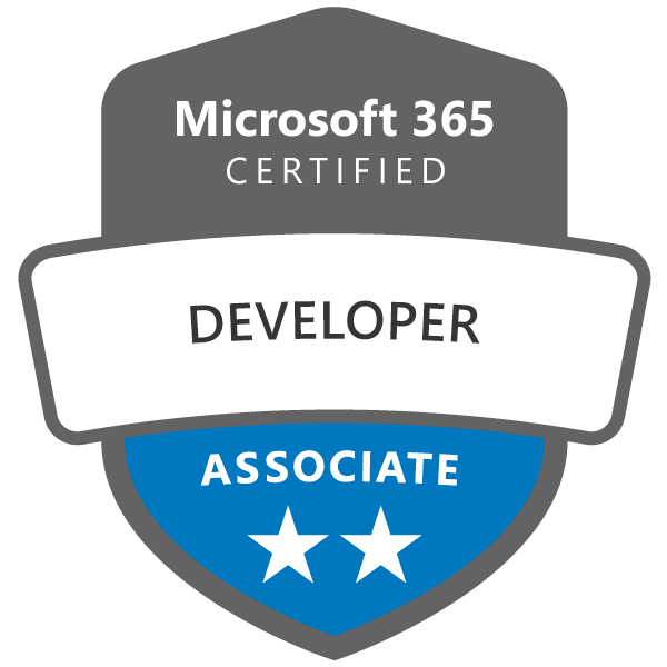 Microsoft 365 Certified: Developer Associate